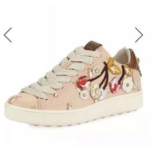 Coach Sneakers with cherry patches leather 7 B